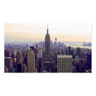 Empire State Building del horizonte de NYC, WTC 4 Tarjetas Personales