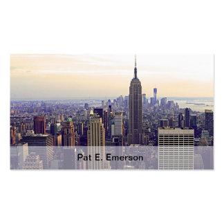 Empire State Building del horizonte de NYC, WTC 4 Tarjetas De Visita
