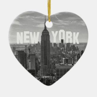 Empire State Building del horizonte de NYC WTC BW Adorno De Reyes