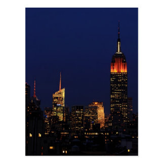Empire State Building Dressed For Halloween B1 Postcard