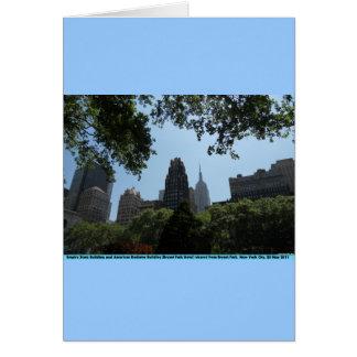 Empire State Building, edificio americano del radi Tarjeta De Felicitación