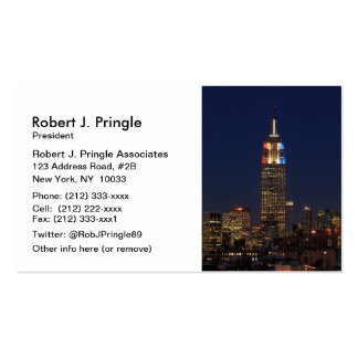Empire State Building Election Night 2012 1 Business Card Templates