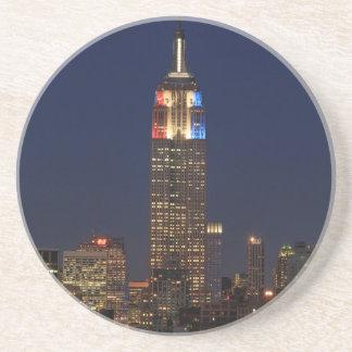 Empire State Building: Election Night 2012 #1 Sandstone Coaster
