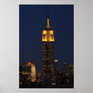 Empire State Building en el amarillo 01 Poster