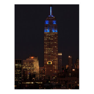Empire State Building en el azul, 30 roca #02 Tarjeta Postal