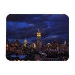 Empire State Building en el cielo amarillo, crepus Imanes Flexibles