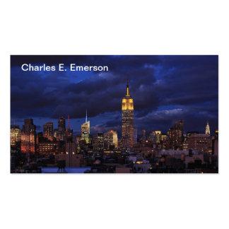 Empire State Building en el cielo amarillo, crepus Plantilla De Tarjeta De Visita
