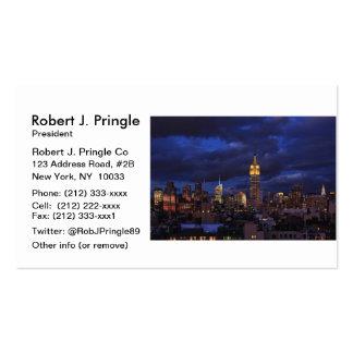 Empire State Building en el cielo amarillo, crepus Plantillas De Tarjetas Personales