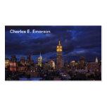 Empire State Building en el cielo amarillo, Plantilla De Tarjeta De Visita