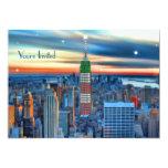 """Empire State Building en las luces del día de Invitación 5"""" X 7"""""""