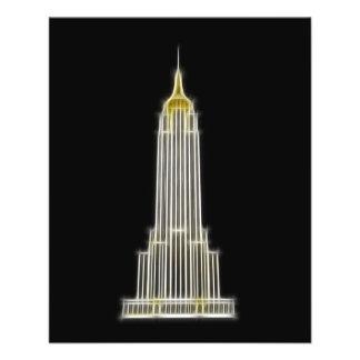 Empire State Building en Nueva York Tarjeta Publicitaria