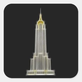 Empire State Building en Nueva York Pegatina Cuadrada