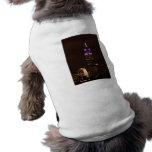 Empire State Building en púrpura y el blanco 01 Camiseta De Perro
