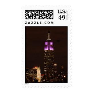 Empire State Building en púrpura y el blanco 01