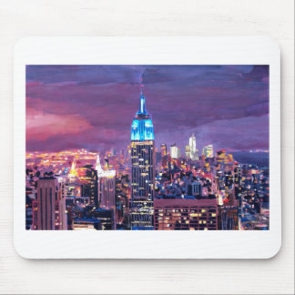 Empire State Building Feeling Like A Blue Giant Mouse Pad