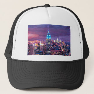 Empire State Building Feeling Like A Blue Giant Trucker Hat