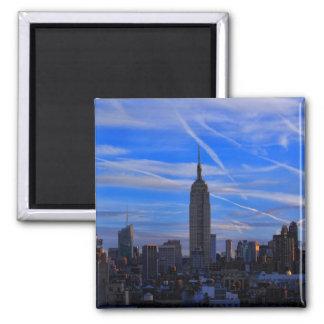 Empire State Building, horizonte de NYC y rastros Imán Para Frigorífico