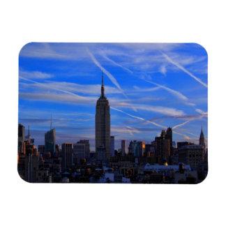 Empire State Building, horizonte de NYC y rastros Iman