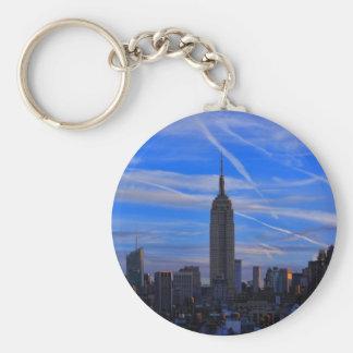 Empire State Building horizonte de NYC y rastros Llaveros