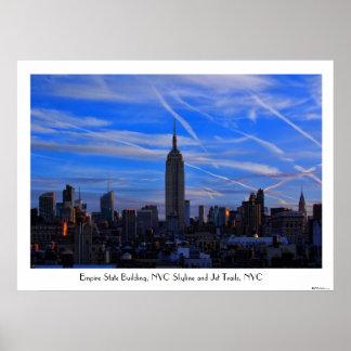 Empire State Building, horizonte de NYC y rastros Impresiones