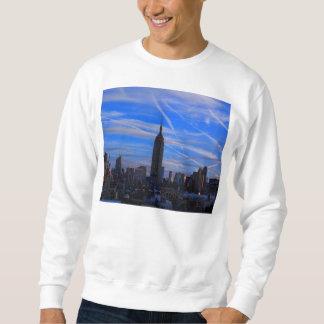 Empire State Building, horizonte de NYC y rastros Sudadera