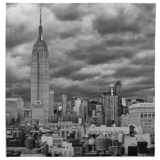 Empire State Building, horizonte tempestuoso de Servilleta