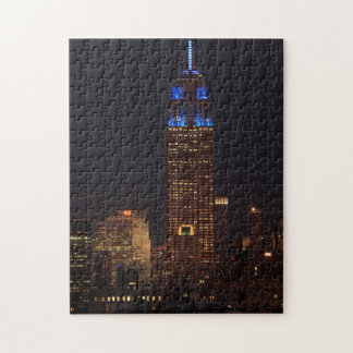 Empire State Building in Blue, 30 Rock #02 Jigsaw Puzzle