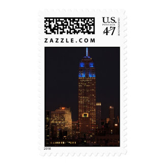 Empire State Building in Blue, 30 Rock #02 Postage Stamp
