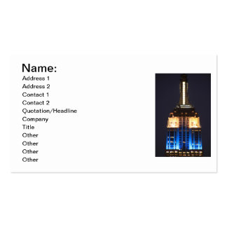 Empire State Building in Blue Pink & White - 02 Business Card Template