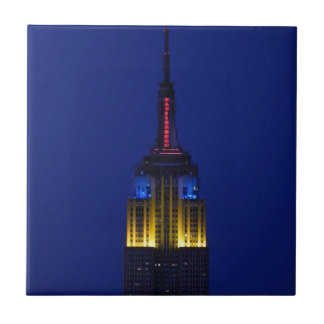 Empire State Building in Comic Book colors Tiles