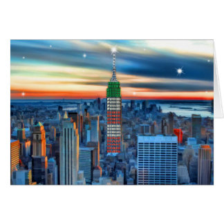 Empire State Building in Holiday Lights Card