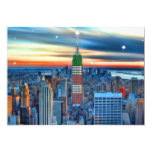 Empire State Building in Holiday Lights 5x7 Paper Invitation Card