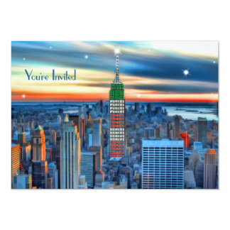 Empire State Building in Holiday Lights Invited Card
