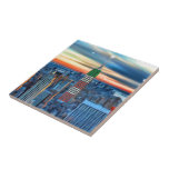 Empire State Building in Holiday Lights Tiles