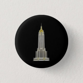 Empire State Building in New York Button