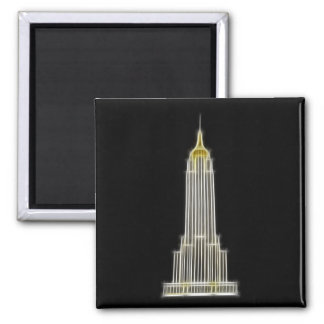 Empire State Building in New York 2 Inch Square Magnet