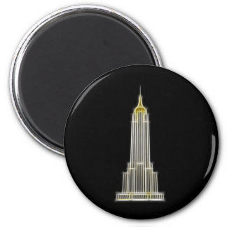 Empire State Building in New York 2 Inch Round Magnet