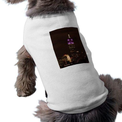 Empire State Building in Purple & White 01 Doggie Shirt