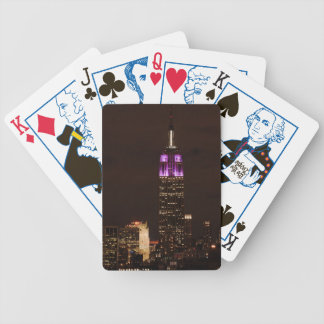 Empire State Building in Purple & White 01 Playing Cards