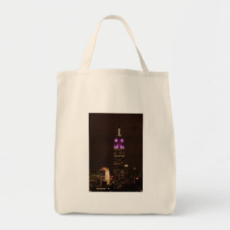 Empire State Building in Purple & White 01 Tote Bag
