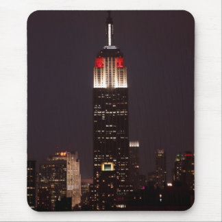 Empire State Building in Red & White, 30 Rock Mouse Pad