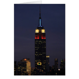 Empire State Building in Red White Blue, 30 Rock Card
