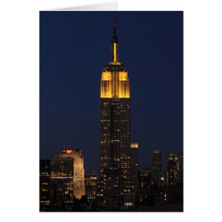 Empire State Building in Yellow 01 Greeting Card