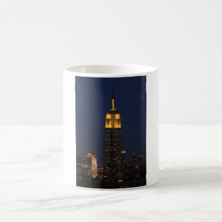 Empire State Building in Yellow 01 Classic White Coffee Mug