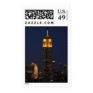 Empire State Building in Yellow 01 Postage Stamps