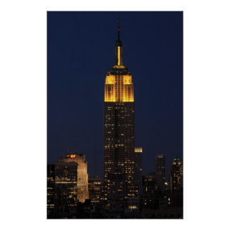 Empire State Building in Yellow 01 Poster