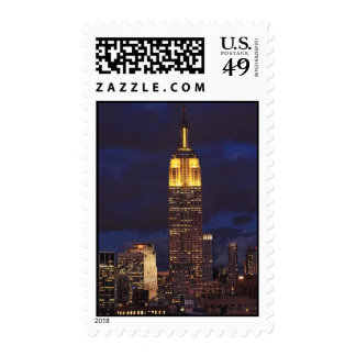 Empire State Building in Yellow, Twilight Sky 01 Stamps
