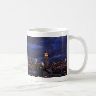 Empire State Building in Yellow, Twilight Sky 02 Coffee Mug