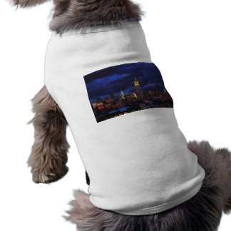 Empire State Building in Yellow, Twilight Sky 02 Doggie T-shirt