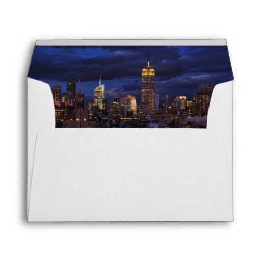Empire State Building in Yellow, Twilight Sky 02 Envelopes